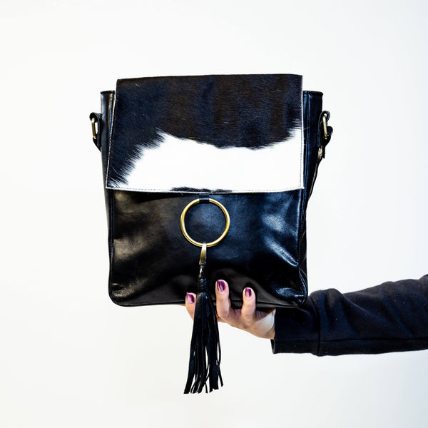 Fur Leather Ring Satchel
