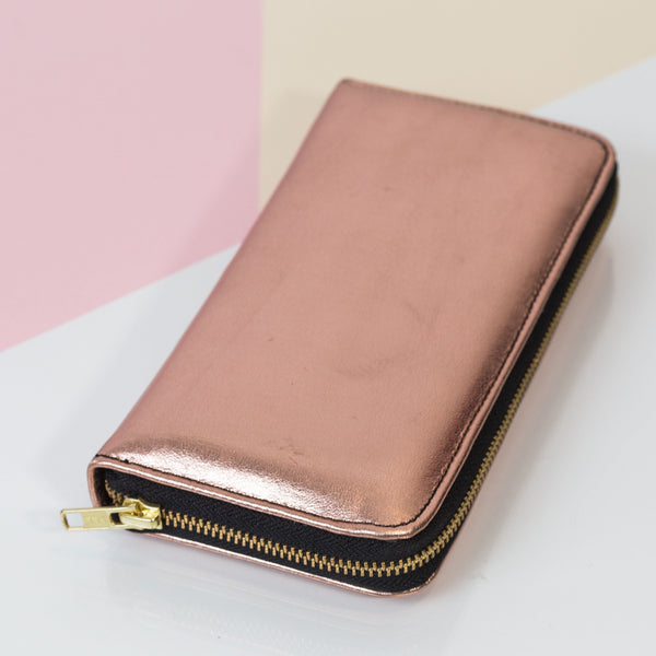 Rose gold wallet