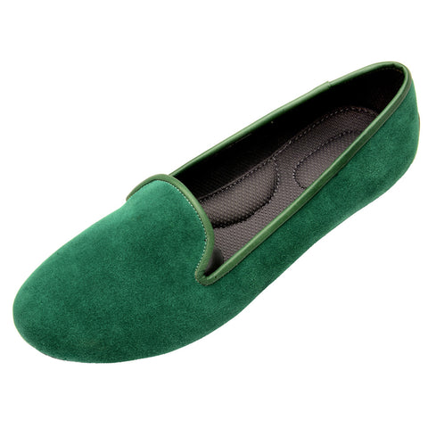 VESTA Emerald Suede Loafers