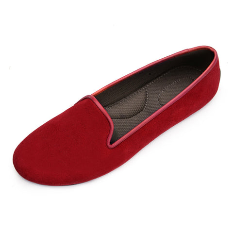 VESTA Red Suede Loafers