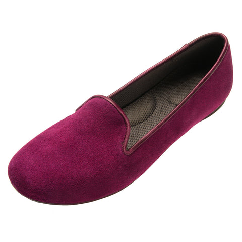 VESTA Wine Suede Loafers