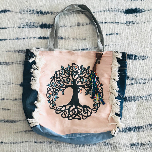 Tree of life square gypsy bag