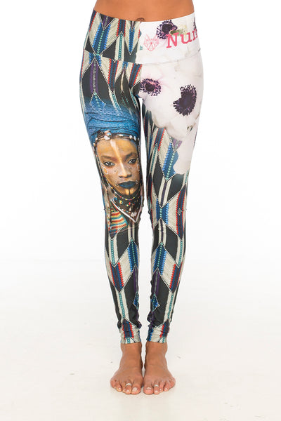 African tribe blue leggings (Bali)