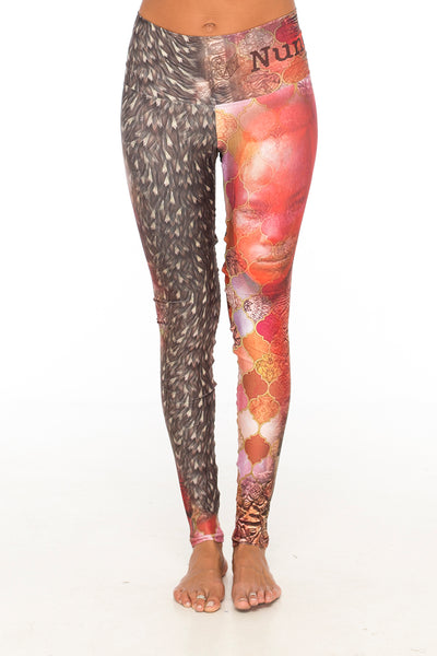African tribe red/brown leggings (Bali)