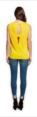 DEX Yellow Tank with Keyhole Back