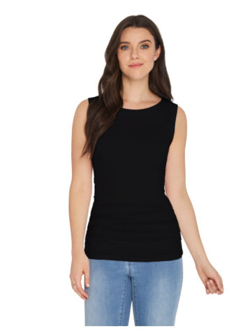 CHARLIE B TUMMY TUCK SLEEVLESS TOP