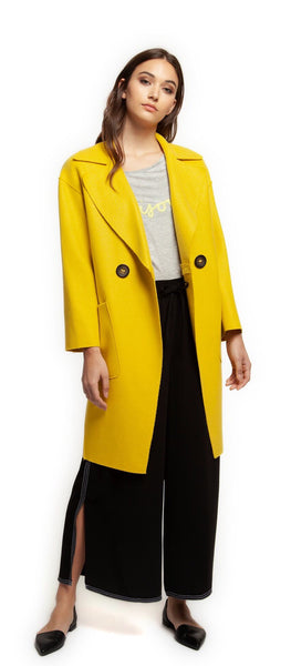 DEX Yellow Double Breasted Coat