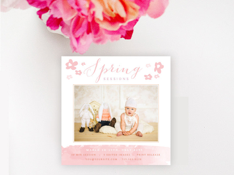 Mini Session Template - Spring Mini Session Template
