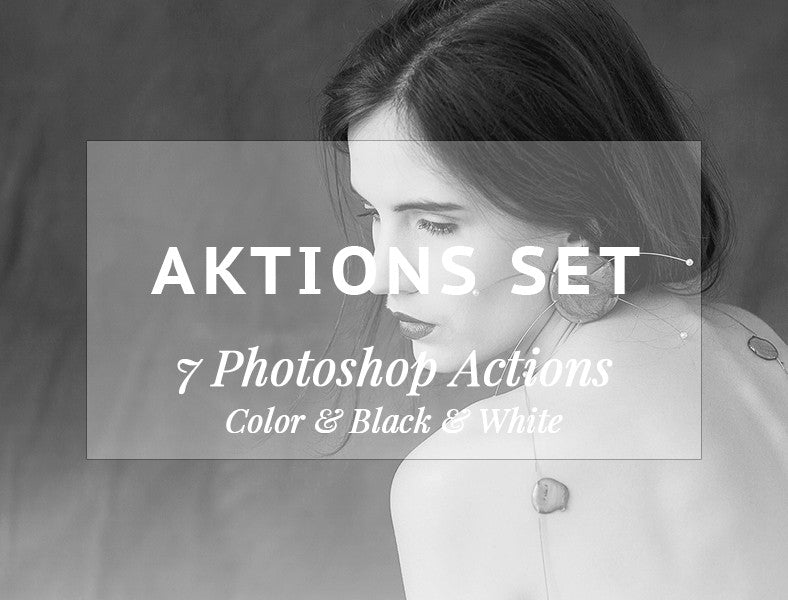 7 Photoshop Actions in einem Bundle