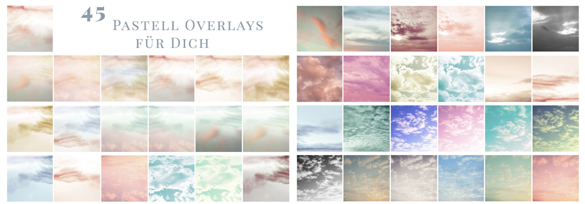 Photo Overlays Sky Pastells Set