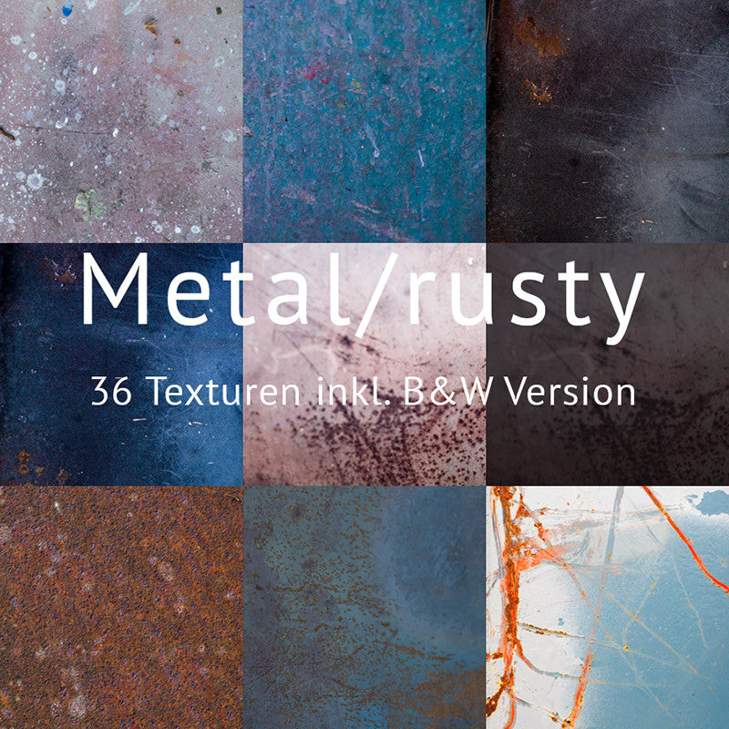 Rusty - 36 Metall Texturen plus alle in B&W