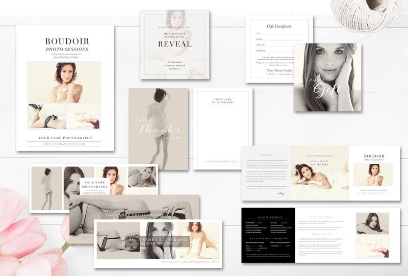 Marketing Set for Photographers - Boudoir