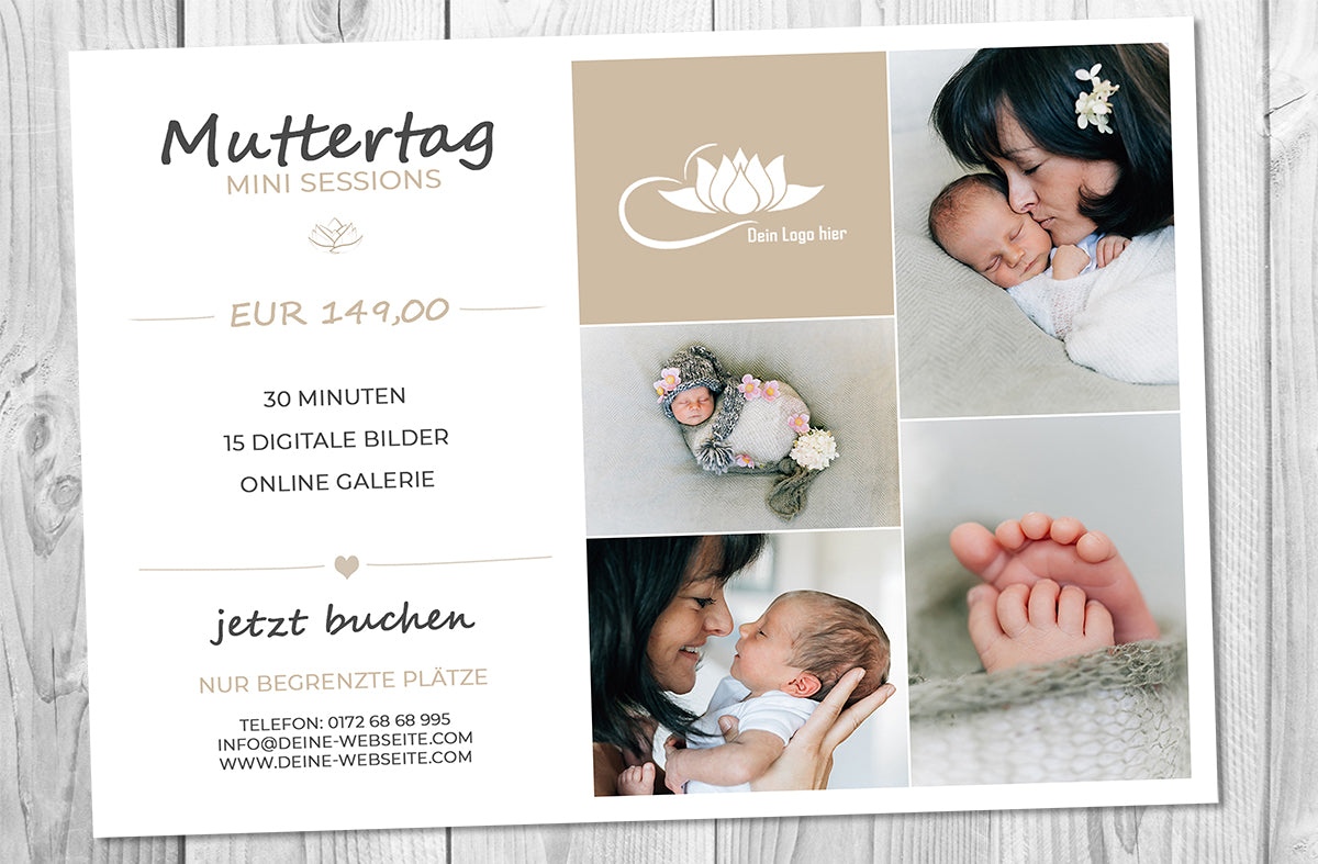 Muttertag - Mini Session Vorlage - Photoshop