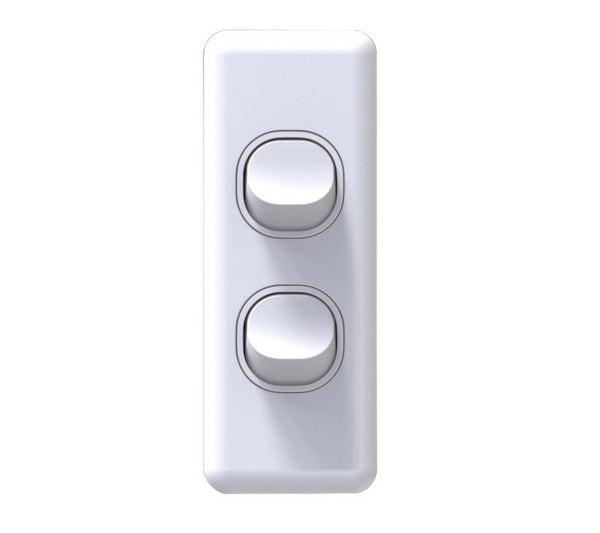 NLS 2 Gang Architrave Light Switch