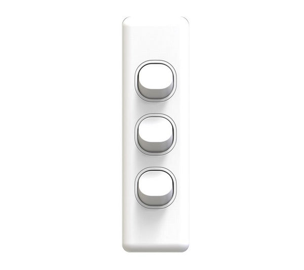 NLS 3 Gang Architrave Light Switch
