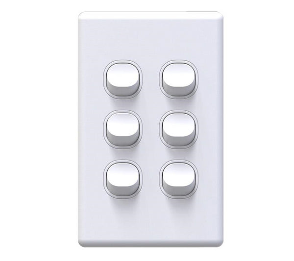 NLS 6 Gang Light Switch