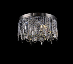 Modern Round LED K9 Crystal Chandelier Day White 450MM X 271MM