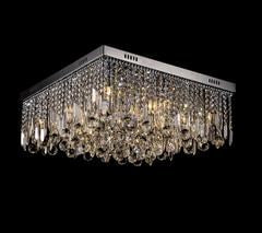 Modern Square LED K9 Crystal Chandelier Day White 620MM X 620MM