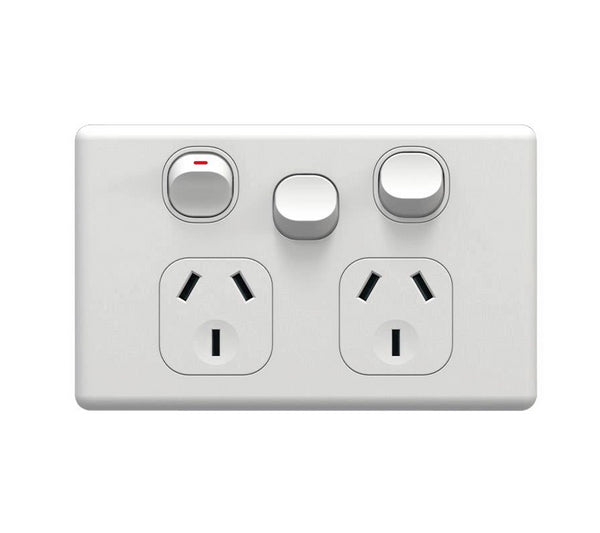 NLS Double Power Point With Extra Switch