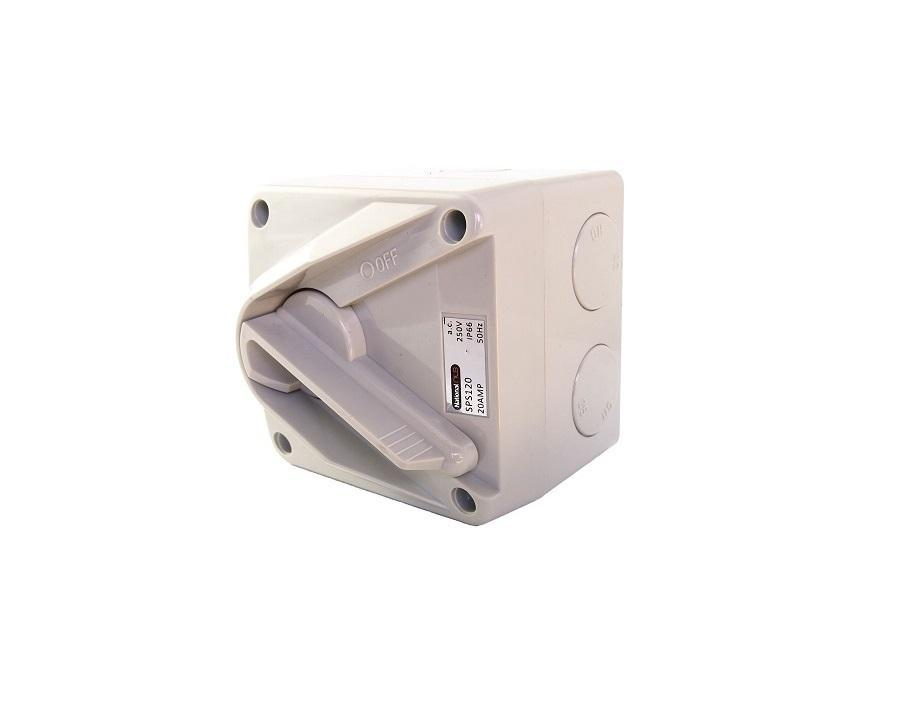 1 POLE 20A MINATURE ISOLATOR SWITCH