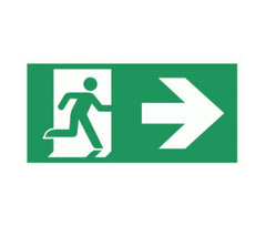 Standard Emergency Exit Sign Light LED Ceiling Mount Running Man Double Sided - ElectrOmart Home Light Switch