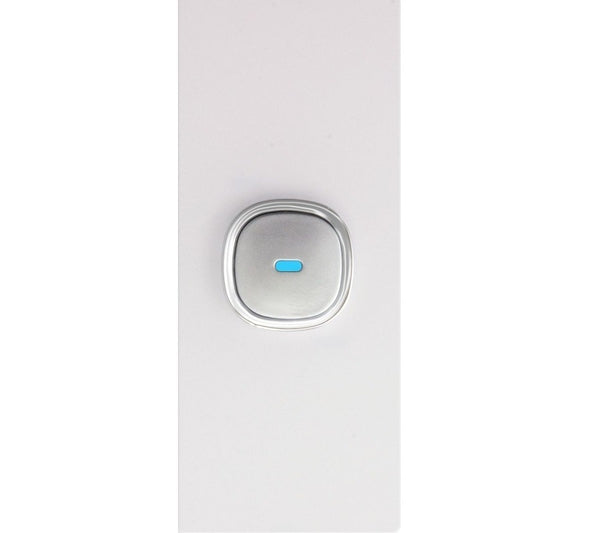 Opal 1 Gang Architrave Glass Panel LED Light Switch