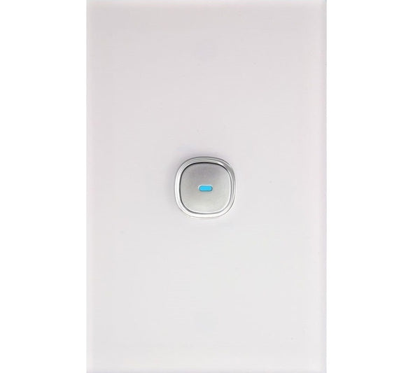 Opal 1 Gang Glass Panel LED Light Switch