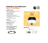 SAL 10W LED Downlight Kit 90mm Cutout White ECOGEM S9041TC