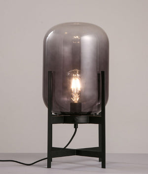 TANQUE: Metal & Glass Water Tank Table Lamps