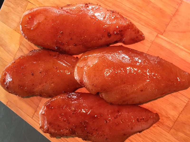 4 Gluten-free marinated chicken fillets