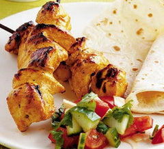Cooked Chicken Fillet Kebabs