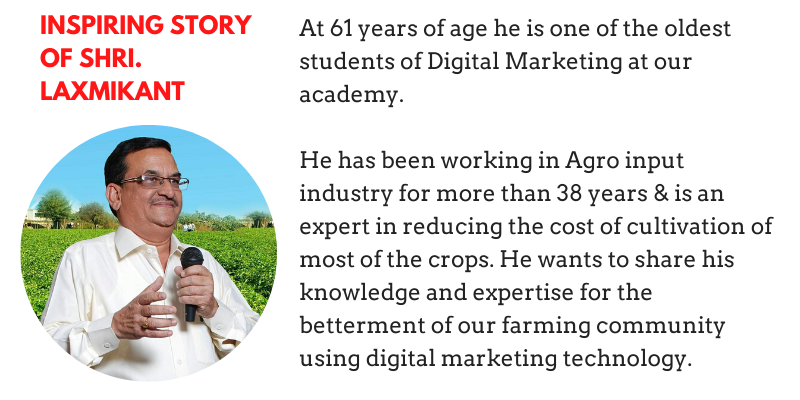 Inspiring story of Laxmikant - Oldest Student of Marketing Labs | Review