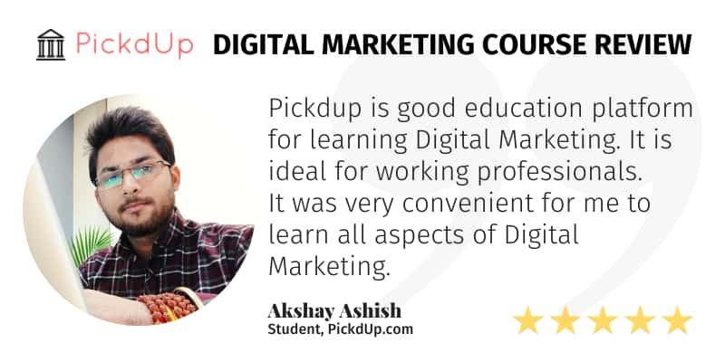 Good Education Platform For Working Professionals To Learn Digital Marketing.