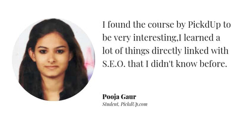Digital Marketing course review by Pooja Gaur