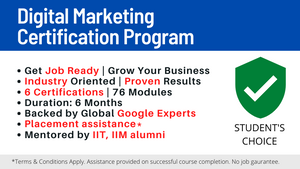 Digital Marketing Certification Program