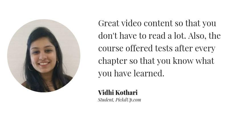 Digital Marketing Course review by Vidhi kothari