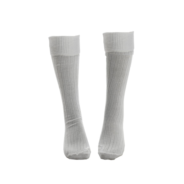 Socks - White Knee High Bobby