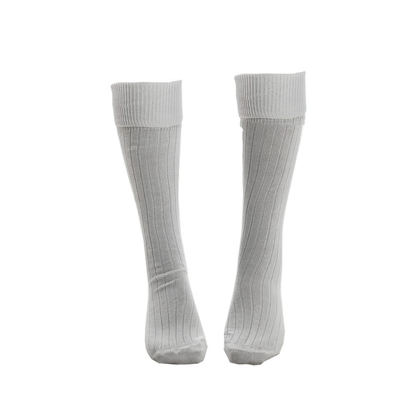 Socks - White Knee High Cricket