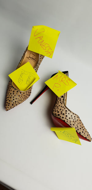These shoes have my name all over them…or they would, if they were my size!