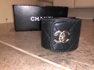 Chanel CC Turnlock Quilted Cuff Bracelet