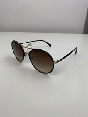 Brand New Chanel 4228-Q Aviator Sunglasses Black / Gold