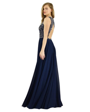 Brand New Dynasty London Laus Navy Gown Size 12