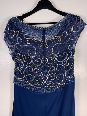 Dynasty London Navy Beaded Dress Size 18