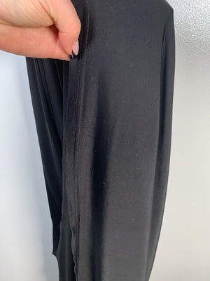 Forever Unique Black Plunge Snake Maxi Dress Size 6