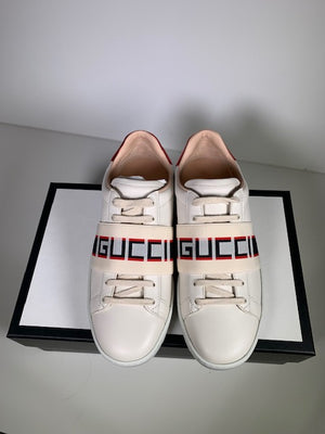Brand New Gucci Ace Logo Elastic Band Sneakers 39 (Generous Fit)