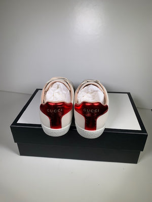 Brand New Gucci Ace Logo Elastic Band Sneakers 36 (Generous Fit)