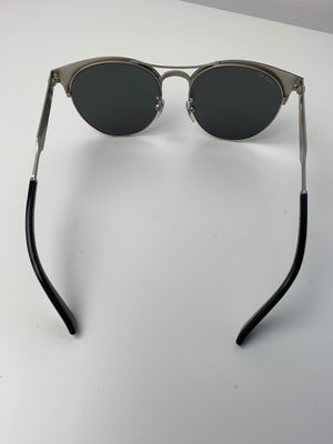 Brand New Gucci GG0075SK Black Metal Frame Sunglasses