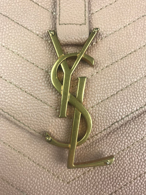 Saint Laurent Monogram Chevron Crossbody Bag