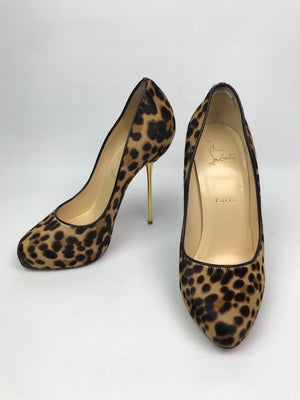 Christian Louboutin Big Lips Leopard Pumps 39