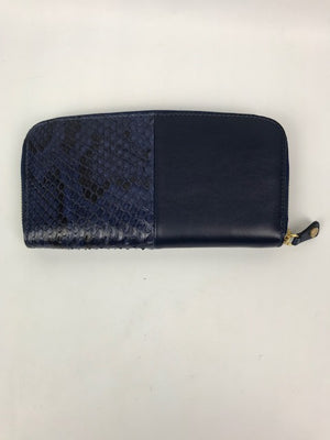 Brand New Jimmy Choo Python Midnight Blue Clutch Purse